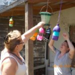 pop bottle bird feeders